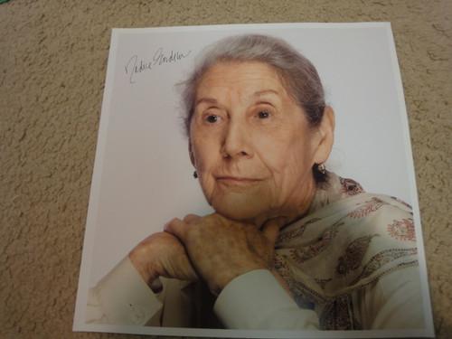 Gordimer, Nadine Color Photo Signed Autograph