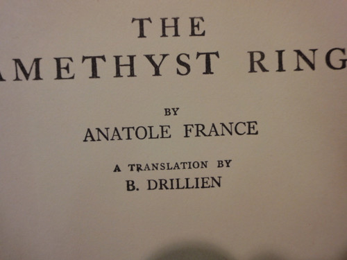 France, Anatole Signed Autograph Title Page Of Book