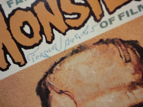 """Ackerman, Forrest """"Famous Monsters Of Filmland"""" 1972 Magazine Signed Autograph"""