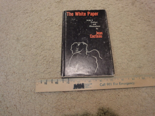 """Cocteau, Jean """"The White Paper"""" 1958 Book Signed Autograph Illustrated"""
