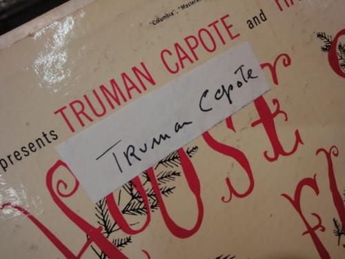 """Capote, Truman """"House Of Flowers"""" 1954 LP Original Cast Signed Autograph"""