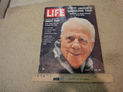 Frost, Robert Life Magazine 1962 Signed Autograph Color Photograph