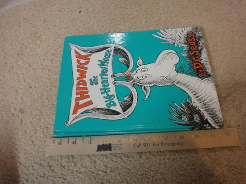 """Dr. Seuss """"Thidwick The Big-Hearted Moose"""" 1975 Book Signed Autograph Illustrated"""