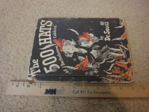 """Dr. Seuss 1938 Book """"The 500 Hats Of Bartholomew Cubbins"""" Book Signed Autograph Illustrated"""