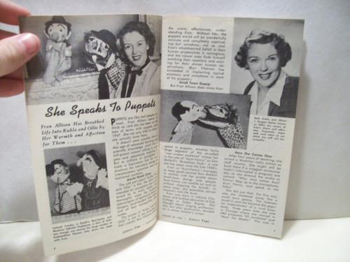 Allison, Fran Leisure Time Magazine Signed Autograph Aug 30 1953
