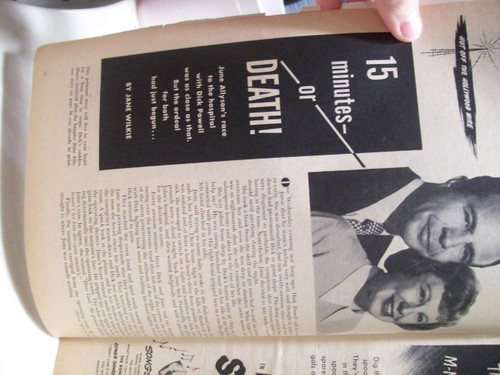 Allyson, June Magazine Motion Picture And Television Signed Autograph 1953