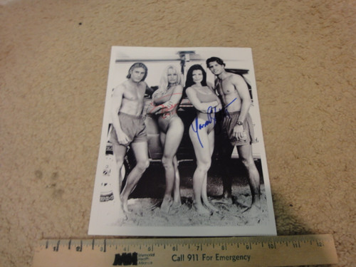 """Anderson, Pamela and Yasmine Bleeth """"Baywatch"""" Photo Signed Autograph Television Scene"""