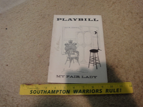 """Andrews, Julie and Rex Harrison """"My Fair Lady"""" 1957 Playbill Signed Autograph"""