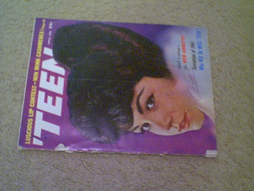 """Annette Funicello """"Teen"""" Magazine 1961 Signed Autograph Cover Color Photo"""