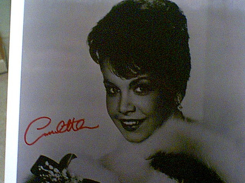 Annette Funicello Early Photo Signed Autograph Mickey Mouse Club