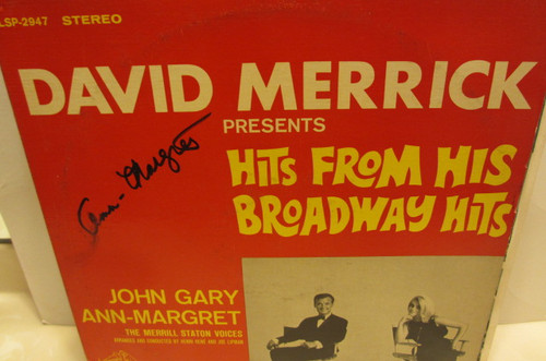 """Ann-Margret Ann Margret RCA 2947 """"David Merrick Presents Hits From His Broadway Hits"""" Signed Autograph Record LP"""