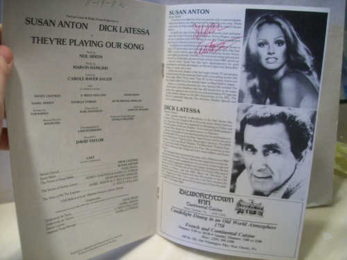 Anton, Susan Playbill Signed Autograph They'Re Playing Our Song 1982