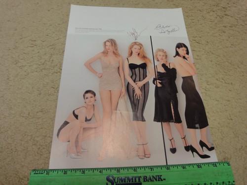 Arquette, Patricia and Nicole Kidman Color Photo Signed Autograph 1995