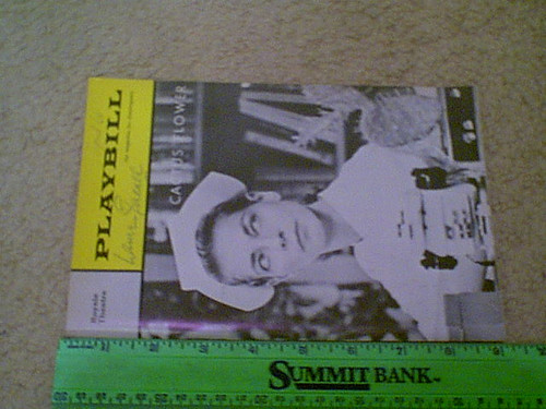 """Bacall, Lauren """"Cactus Flower"""" 1966 Playbill Signed Autograph Cover Photo"""