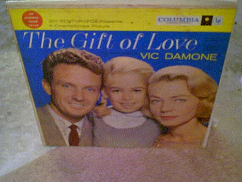 """Bacall, Lauren & Robert Stack """"The Gift Of Love"""" 1958 LP Signed Autograph Cover Color Photo"""