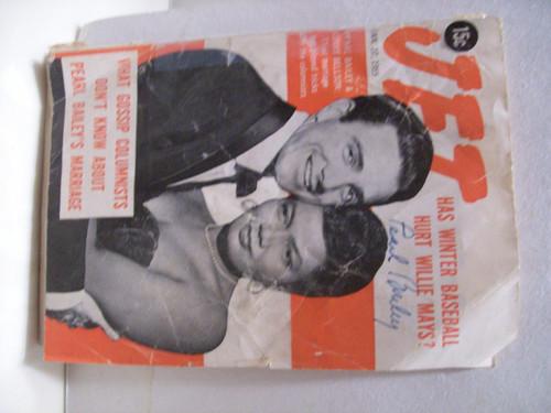 Bailey, Pearl Jet Magazine Signed Autograph Jan 27 1955