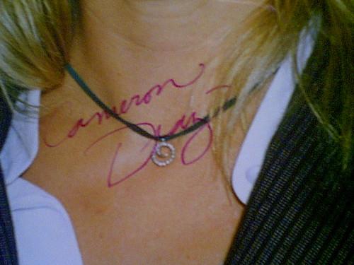 Diaz, Cameron Color Photo Signed Autograph