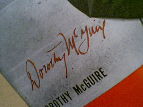 Mcguire, Dorothy Life Magazine 1946 Signed Autograph Cover Photo