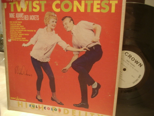 Adams, Mike And The Red Jackets LP Signed Autograph Twist Contest