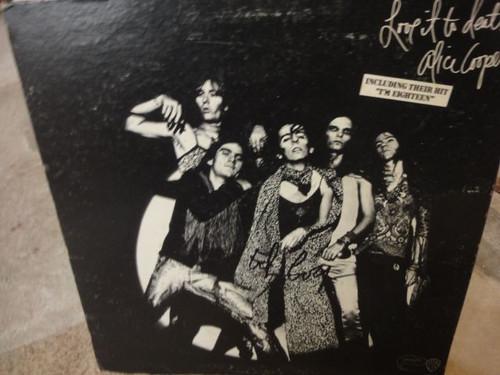 "Alice Cooper ""Love It To Death"" 1971 LP Signed Autograph"