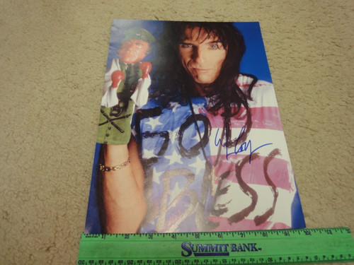 Alice Cooper Color Photo Signed Autograph