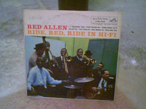 """Allen, Red """"Ride Red Ride In Hi-Fi"""" 1957 Jazz LP Signed Autograph Rca"""