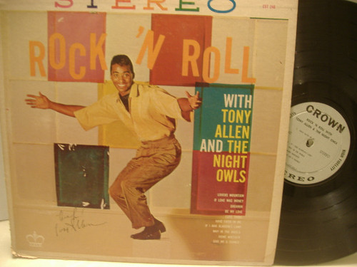 Allen, Tony The Night Owls LP Signed Autograph Rock N Roll