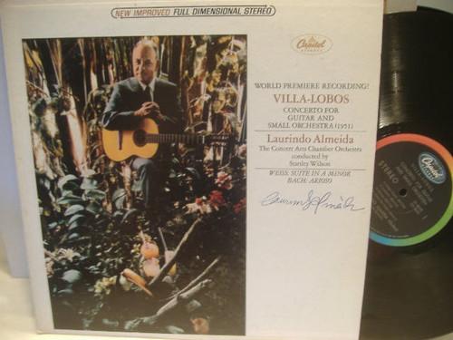 Almeida, Laurindo Villa Lobos Signed Autographed LP Jazz