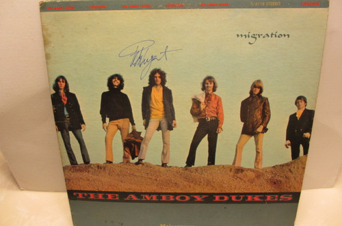 """Amboy Dukes Mainstream 6118 """"Migration"""" Signed Autograph Record LP Ted Nugent"""