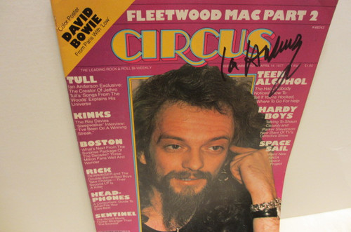 Anderson, Ian Circus Magazine April 1977 Signed Autographed Jethro Tull