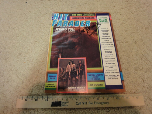 Anderson, Ian Hit Parader Magazine 1971 Signed Autograph Cover Photo Jethro Tull