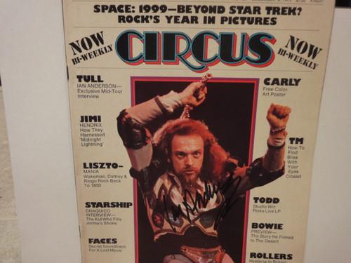 Anderson, Ian Jethro Tull Circus Magazine Signed Autograph December 1975