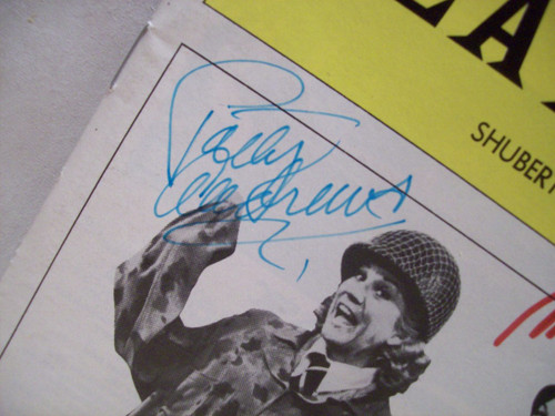 Andrews Sisters Playbill Signed Autograph Over Here 1974