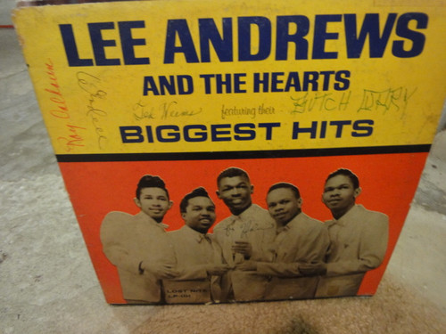 """Andrews, Lee And The Hearts Roy Calhoun Wendall Calhoun Butch Curry Ted Weems """"Biggest Hits"""" 1964 LP Signed Autograph Lost Nite"""