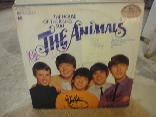 "Animals Animals Eric Burdon Chas Chandler Hilton Valentine John Steel ""The House Of The Rising Sun"" 1972 Import LP Signed Autograph Animals"