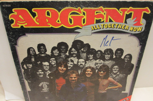 """Argent, Rod Epic 31556 """"All Together Now"""" LP Signed Autograph"""