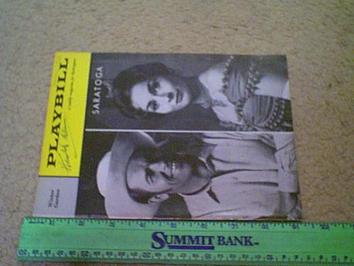 "Arlen, Harold ""Saratoga"" 1960 Playbill Signed Autograph"