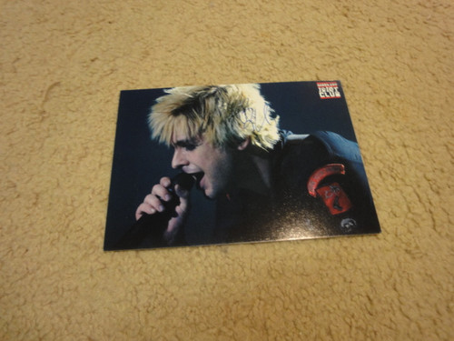 Armstrong, Billie Joe Color Photo Postcard Signed Autograph Green Day