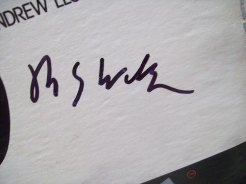Webber, Andrew Lloyd LP Signed Autograph Evita