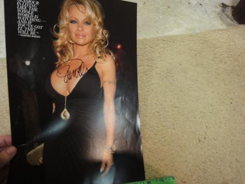 Anderson, Pamela Color Photo Signed Autograph - Great