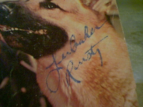 """Aaker, Lee """"Rin Tin Tin"""" 1961 Color Dell Comic Book Signed Autograph Cover Photo Vintage"""