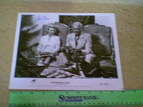 "Alda, Robert & Lana Turner 1976 Photo ""Bittersweet Love"" Signed Autograph Movie Scene"