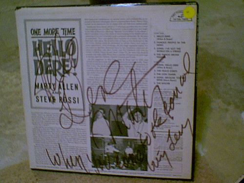 Allen, Marty LP Signed Autograph Steve Rossi One More Time Hello Dere! 1964