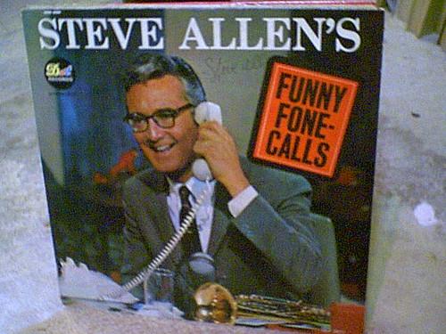 Allen, Steve LP Signed Autograph Funny Fone Calls Tonight Show