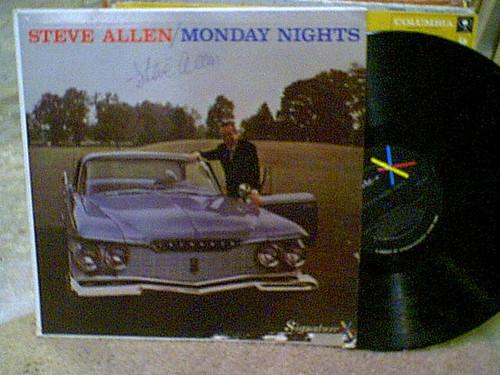 Allen, Steve LP Signed Autograph Monday Nights