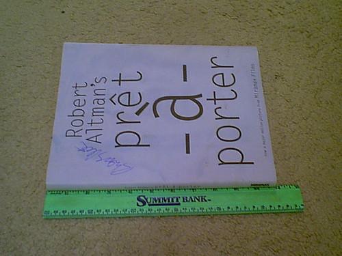"Altman, Robert ""Pret A Porter"" 1994 Book Signed Autograph Photos"