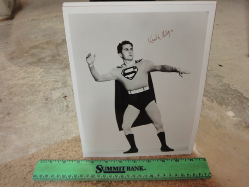 """Alyn, Kirk Superman Photo Signed Autograph """"The Adventures of Superman"""""""