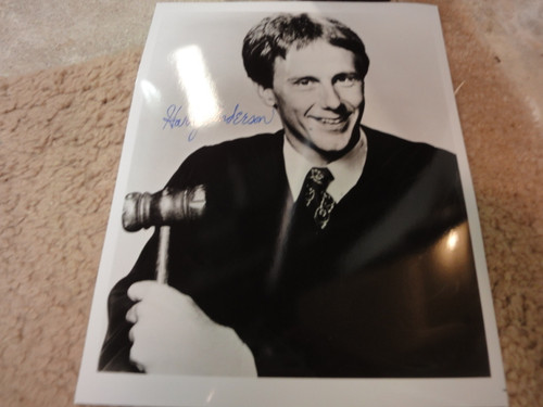 """Anderson, Harry Photo Signed Autograph """"Night Court"""""""