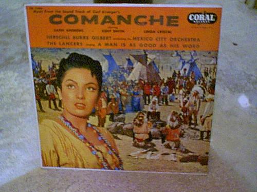 "Andrews, Dana ""Comanche"" 1956 LP Signed Autograph Rare Soundtrack Carl Krueger"