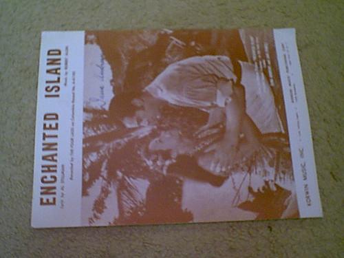 "Andrews, Dana Jane Powell ""Enchanted Island"" 1958 Sheet Music Signed Autograph Photos"